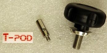 Treppiede Avalon T-POD 130cm realizzato in metallo, robusto e super-trasportabile - compatibile con Linear e M-Uno