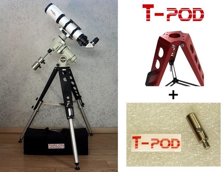 Kit di aggancio per treppiedi T-POD 110/130 su montature TAKAHASHI