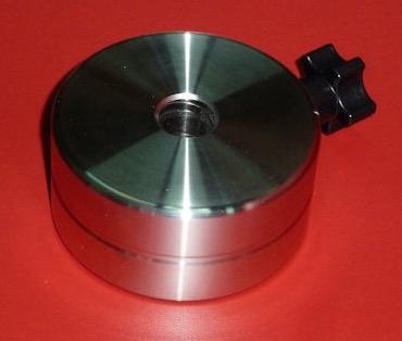 Contrappeso aggiuntivo 1.372 Kg per montatura M-Uno - diametro 80 - foro 16 - spessore 40 in acciaio inox