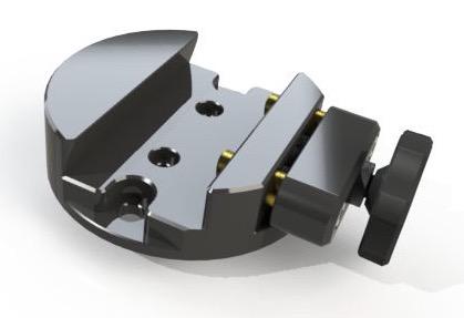 Flangia GP con morsetto a singola pressione per alloggiare staffe a coda di rondine GP 45mm su montatura Linear e M-UNO