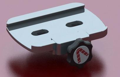 """Flangia 3"""" (tipo losmandy) con morsetto a singola pressione per alloggiare staffe a coda di rondine 75mm su montatura Avalon Linear e M-UNO"""