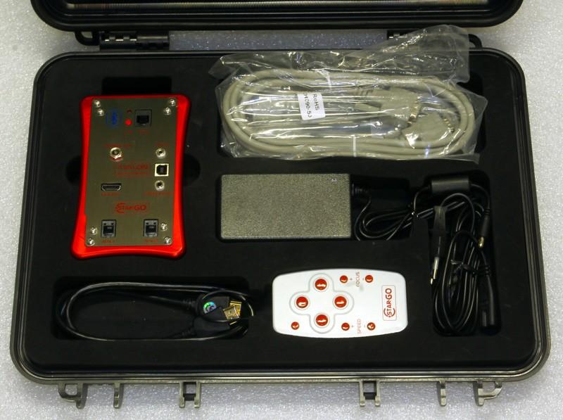 Avalon StarGO, GoTo completo: Control box, Pulsantiera manuale, controllo Bluethooth/Smartphone Android, Porte Autoguida & Steeldrive, 2 porte Ausiliarie, Porta DSLR/Time lapse, cavi, alimentatore 220v, valigia, Pen drive/software e manuali (senza kit motori)