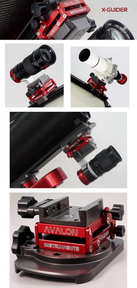 Testa micrometrica di precisione per telescopio guida. Decentramento asse +/- 5° completa di clamp GP superiore