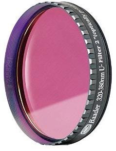 """Filtro U (Ultravioletto) da 2"""" (50.8mm), non fotometrico. Ideale per riprendere le nubi di Venere"""