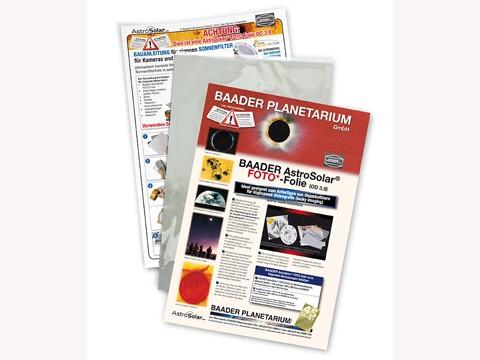 Filtro solare AstroSolar fotografico, densità ND=3.8. Foglio formato A4 20x30cmOD Photo Film