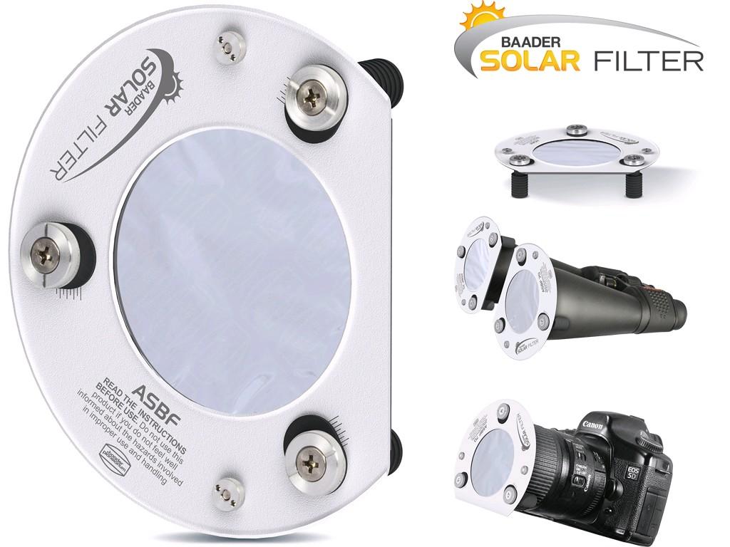 Filtro solare Baader ASBF per binocoli e obiettivi fotografici per DSLR di 50mm(Idonei per gli zoom o focali corte prossime al corpo fotografico. Cioè vicine allo stesso)