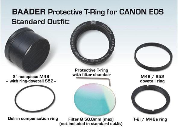 "Baader Protective T-Ring for Canon EOS - use with 2"" and 50,4mm filters  [EN]"