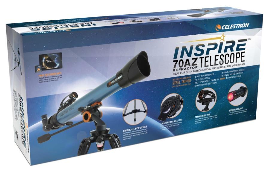Telescopio rifrattore Gamma Inspire 70AZ