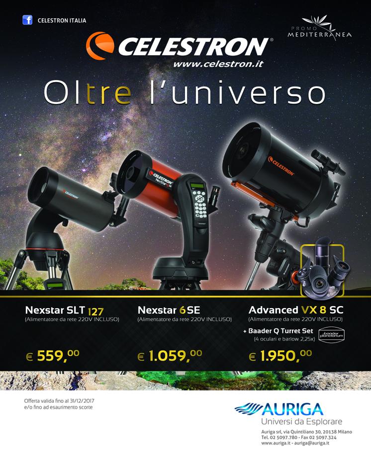 Telescopio Schmidt Cassegrain Nexstar 6SE con montatura altazimutale computerizzata GO-TO -  Promozione Celestron Dicembre 2017