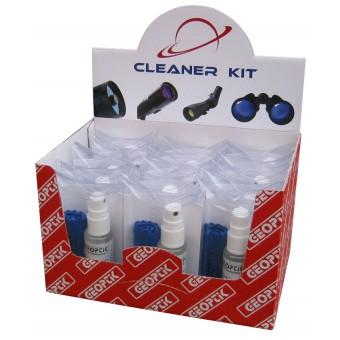 Detergente speciale per lenti e specchi, comprende uno spray da 30 ml e un panno in microfibra di 20x30 mm.