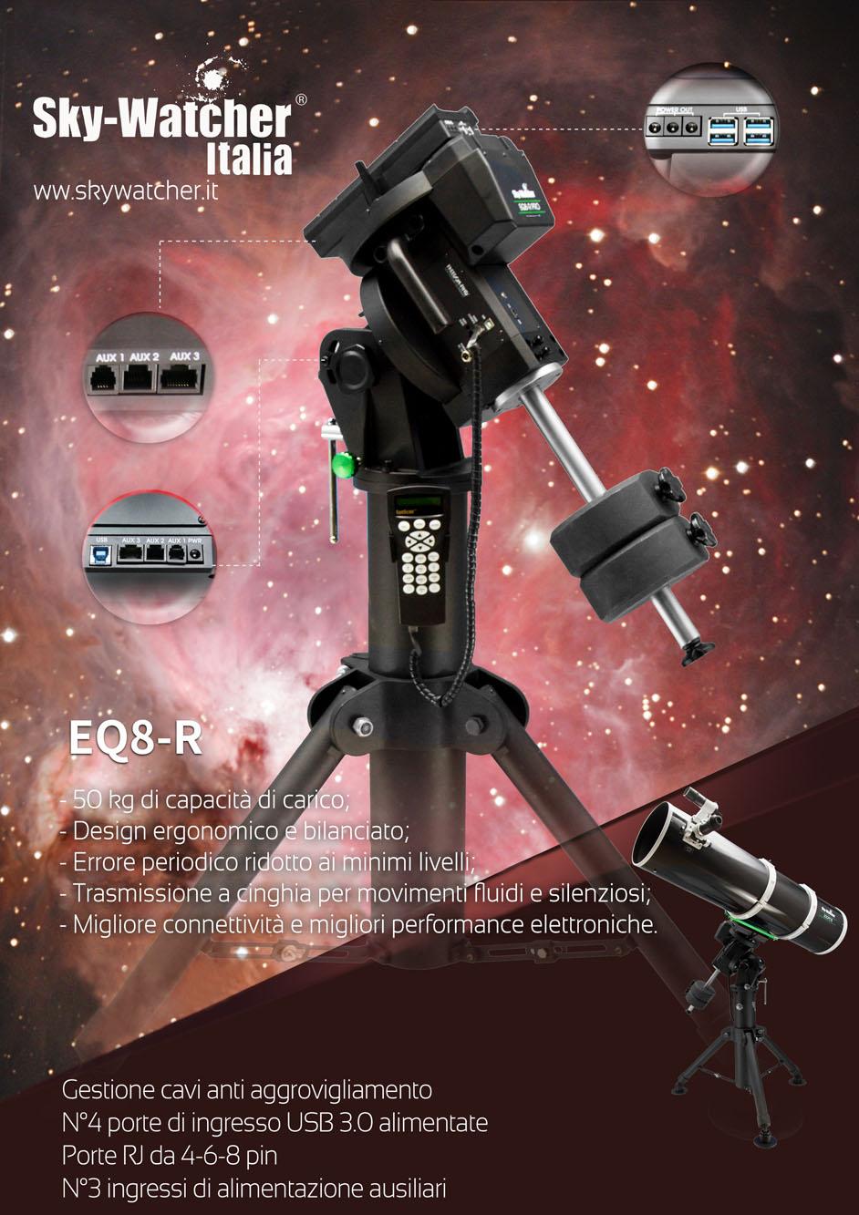 Montatura Equatoriale Sky-Watcher EQ8 R Pro, la nuova ammiraglia delle montature Sky-Watcher- versione solo testa