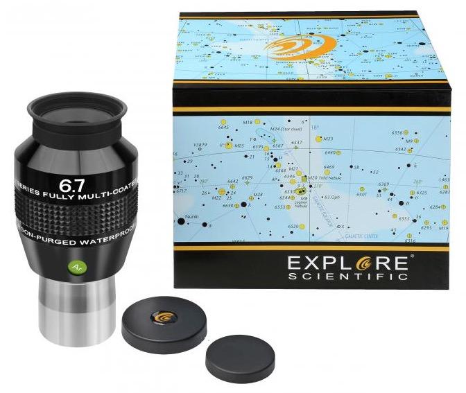 OculareExplore Scientific conbarilotto da 31.8mm- campo apparente 82°- lunghezza focale 6.7mm