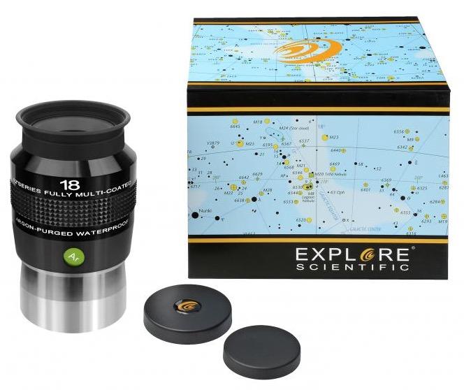 OculareExplore Scientific conbarilotto da 50.8mm- campo apparente 82°- lunghezza focale 18mm