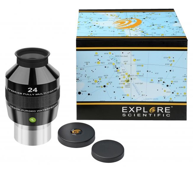 OculareExplore Scientific conbarilotto da 50.8mm- campo apparente 82°- lunghezza focale 24mm