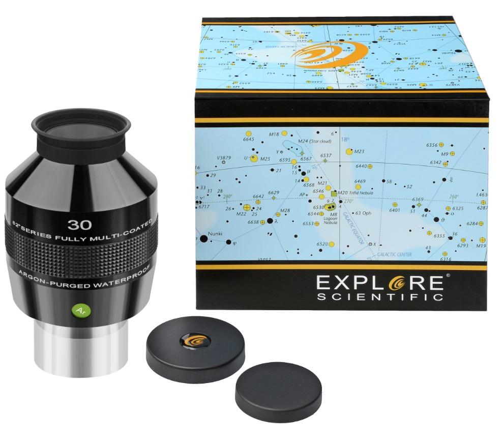 OculareExplore Scientific conbarilotto da 50.8mm- campo apparente 82°- lunghezza focale 30mm