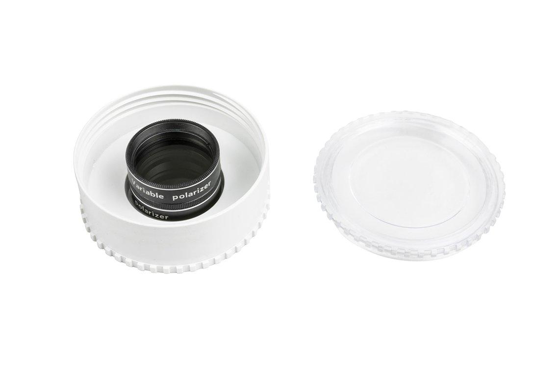 Filtro polarizzatore variabile Celestron da 31,8mm, per riduzione modulare dell'intensità luminosa degli oggetti celesti