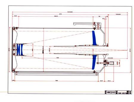 Tubo ottico Vixen VMC260L è un Cassegrain modificato con 260mm di diametro
