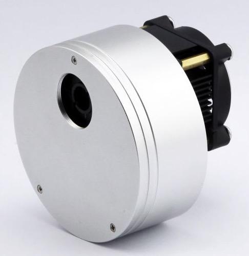 miniCAM5F - camera CMOS raffreddata con ruota portafiltri integrata a 9 posizioni e set filtri LRGB e filtro nero