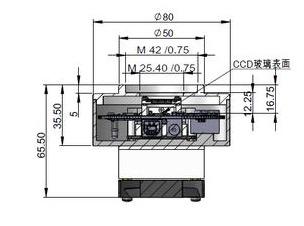 miniCAM5S - camera Monocromatica CMOS raffreddatacon connessione USB2.0