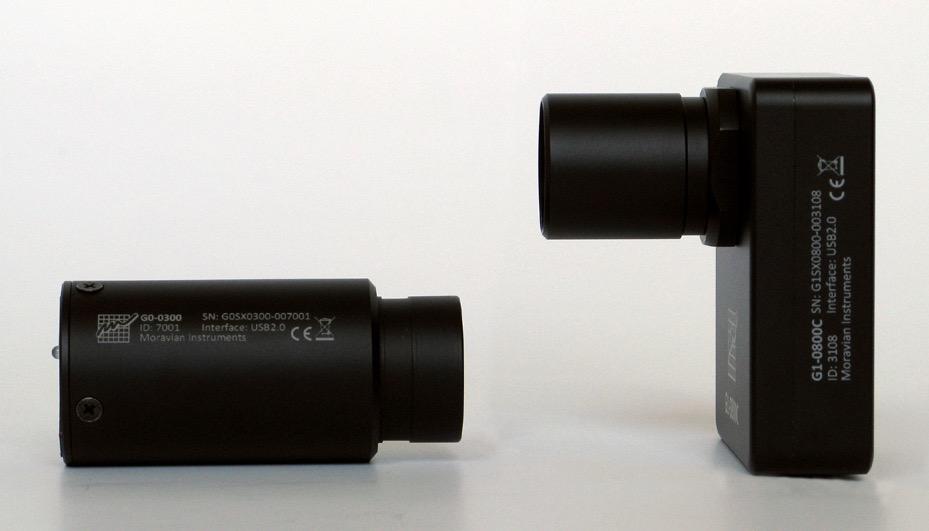 Camera Moravian G0-2000 mono con sensore CCD Sony ICX274AKda 1628 × 1236 pixel