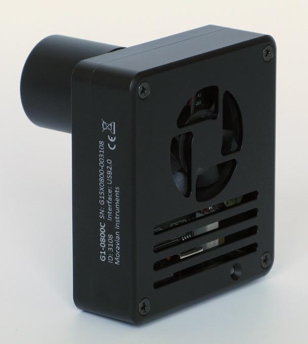 Camera Moravian G1-0300 mono con sensore CCD Sony ICX424ALda 656 × 494 pixel