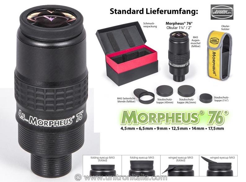 """Oculare Baader Morpheus da 12.5mm con campo apparente 76° - barilotto da 31,8mm e 2"""""""
