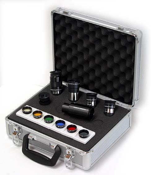Complete eyepiece + accessory kit in aluminium case [EN]