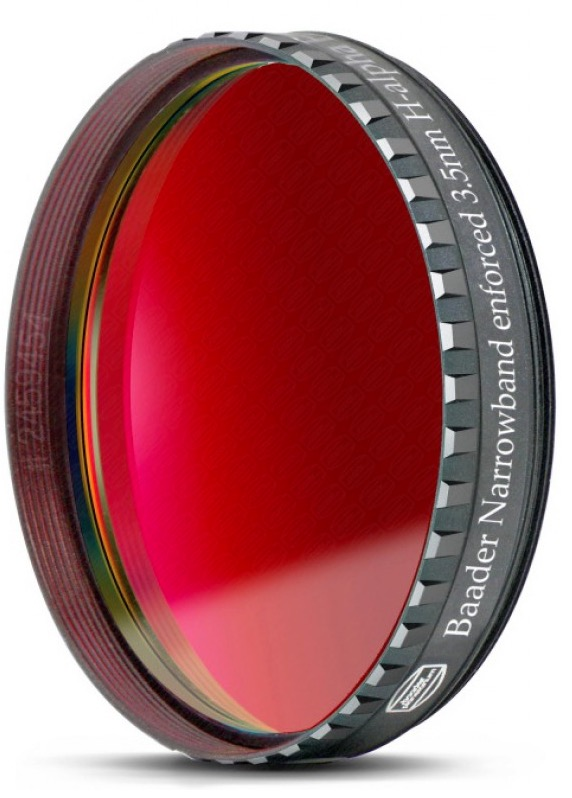 """Filtro H-alpha a banda stretta da 3.5nm FWHM, diametro 2"""" (50,8mm), per CCD, con cella a basso profilo"""