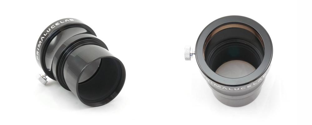 La prolunga 50,8mm da 45mm di lunghezza si inserisce in qualsiasi focheggiatore da 50,8mm di diametro e prolunga lo stesso attacco di 45mm