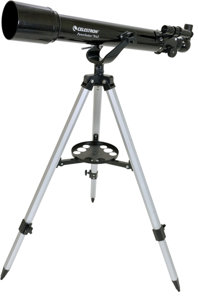 Telescopio ultraleggero PowerSeeker 70AZ, con accessori e treppiede in alluminio