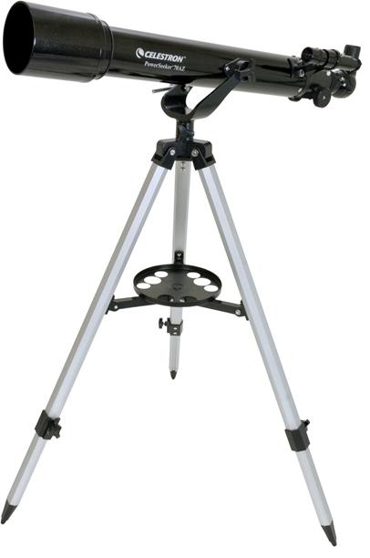 Telescopio ultraleggero PowerSeeker 70AZ, con accessori e treppiede in alluminio