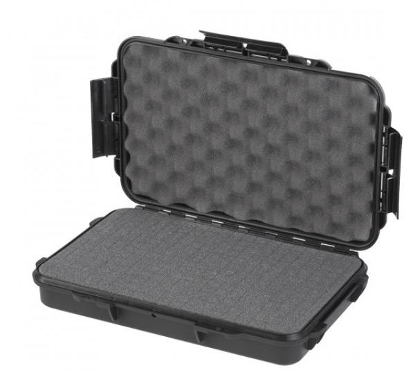 Valigia Ermetica Poket 3, spugne comprese. Dimensioni interne : 314 x 195 x H51 mm