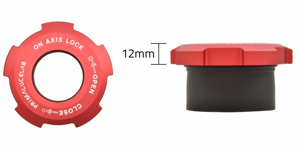 Il portaoculari OnAxisLock da 31,8mm si inserisce in qualsiasi attacco da 50,8mm