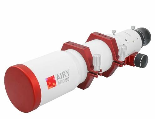 Doppietto apocromatico in FPL-53 da 80mm e 500mm di focale, f/6,25 - con spianatore di campo 1x