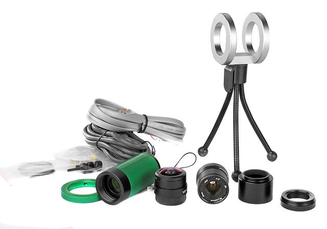 QHY5L-II mono premium - camera per autoguida e riprese planetarie ad alta velocità, max 200fps - con accessori