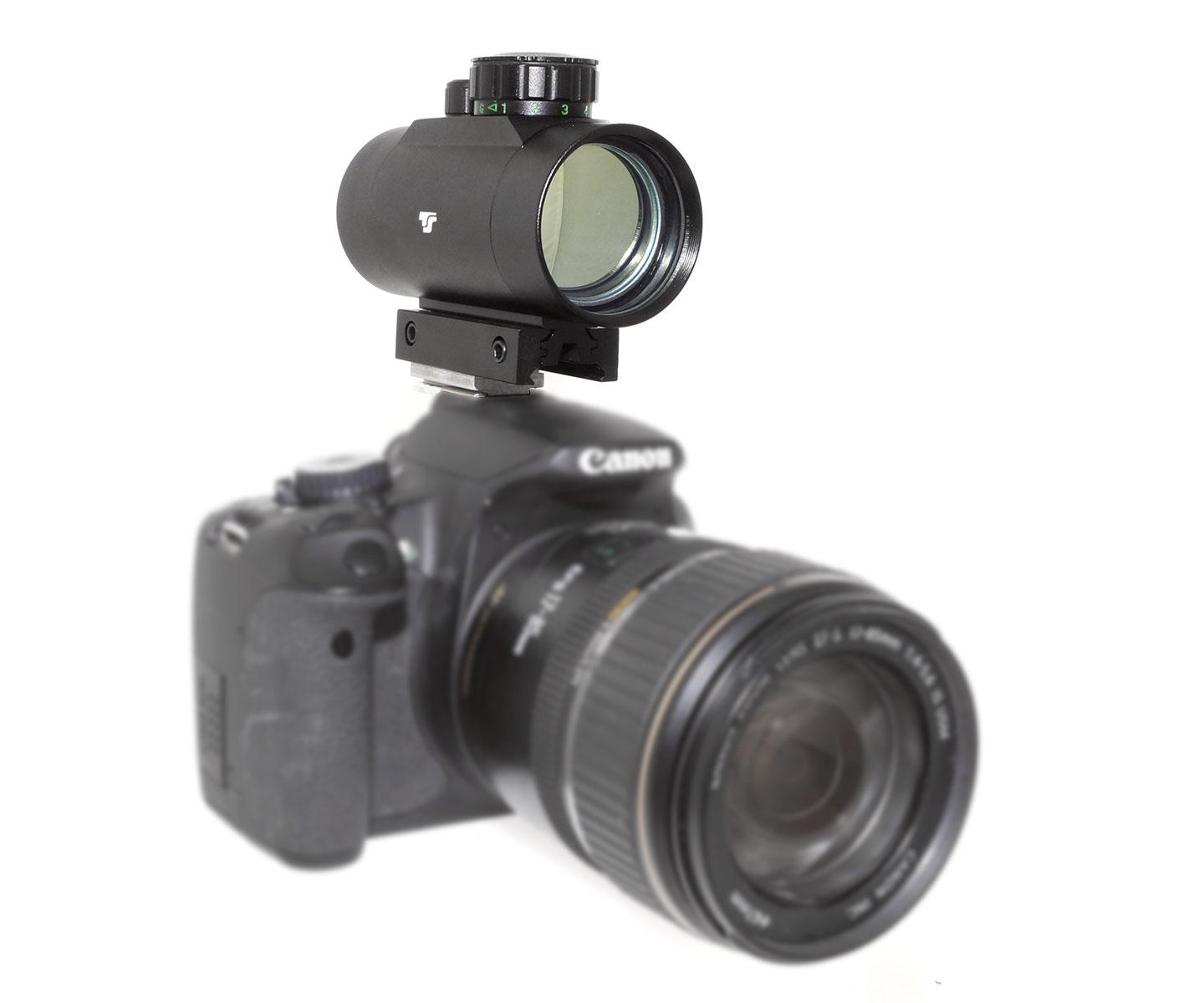 TS-Optics LED Red Dot Finder for DSLR cameras, made of metal [EN]