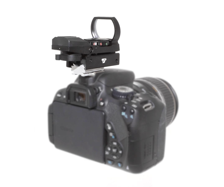 TS-Optics Red Dot Finder deluxe for DSLR cameras, made of metal[EN]