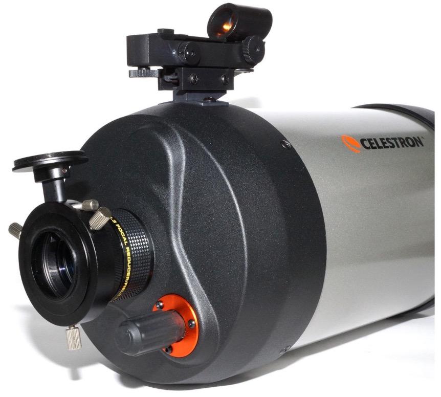 Riduttore di focale f/6.3 e guida fuori asse TS per Schmidt Cassegrain