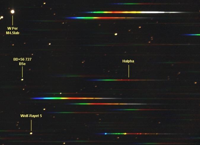 Star Analyzer filtro per spettroscopia,  composto da un reticolo di diffrazione da 100 linee/mm