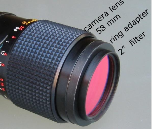 """Anello Adattatore per filtri da 2"""" per obiettivi fotocamera da 58mm"""