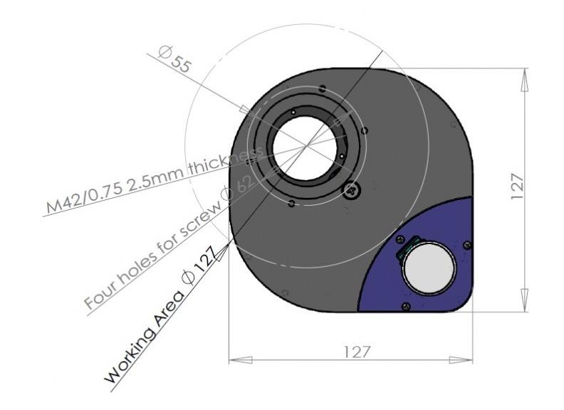 Ruota portafiltri QHYCCD CFW2-Sper 6 filtri da 31,8mm motorizzata e collegamento USB