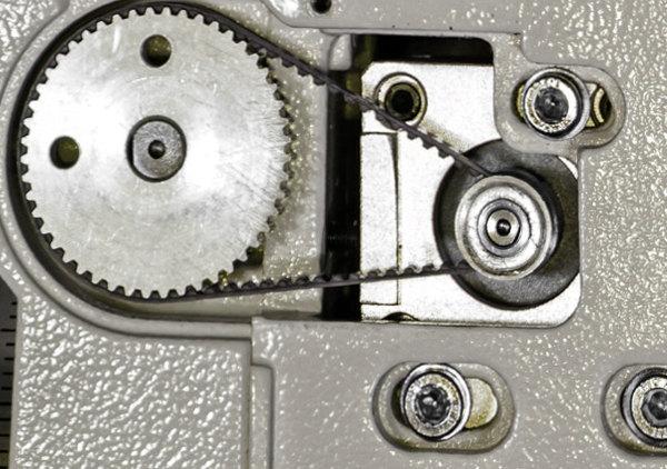 Dettaglio trasmissione a cinghia AZ EQ6 Synscan