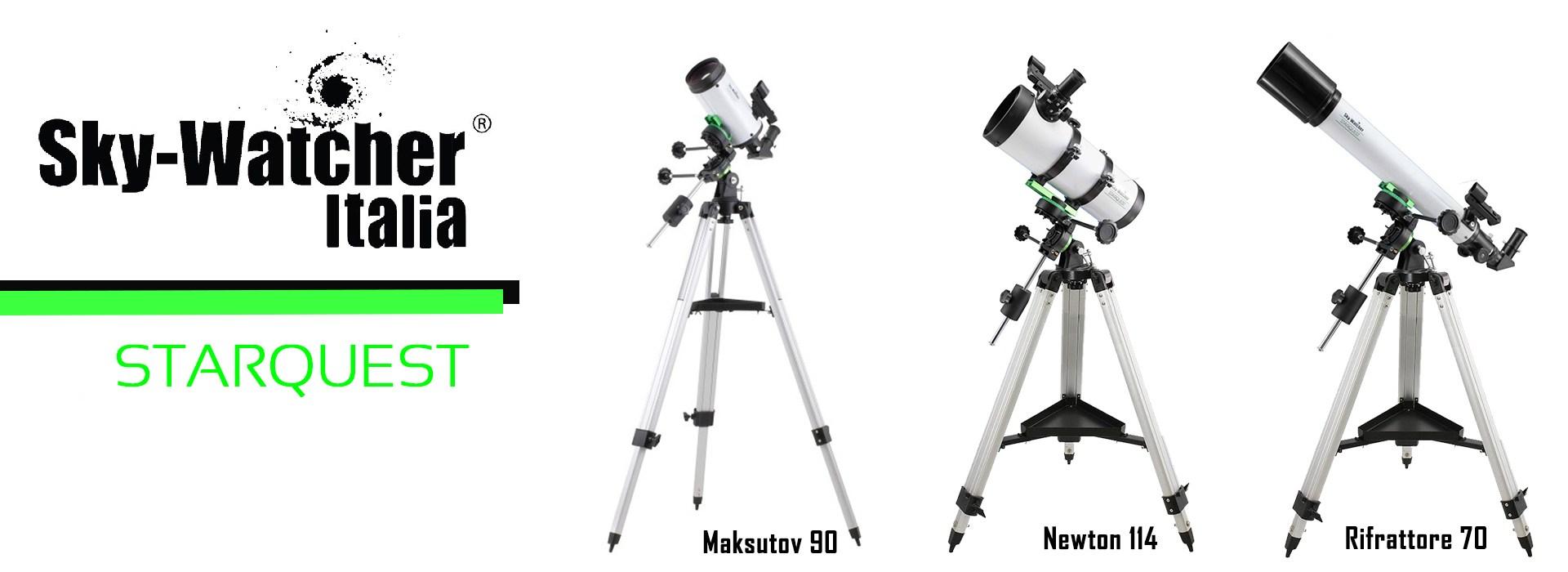 Telescopio Newton 114/500 su montatura equatoriale Sky-Watcher Star Quest