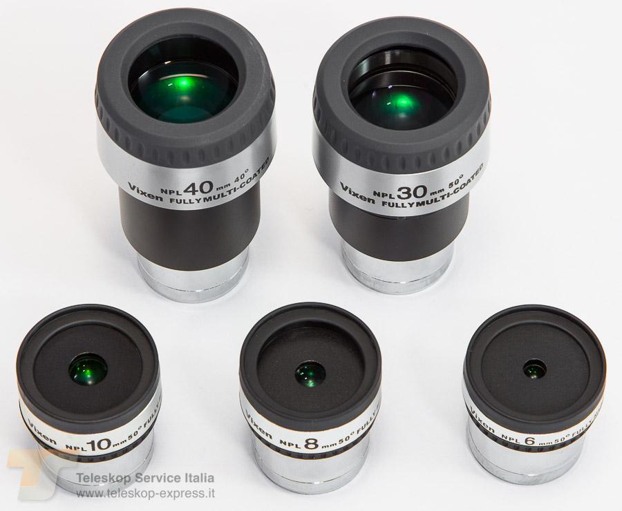 Il Vixen NPL 6mm è un oculare Ploss da 6mm di focale e 3mm di estrazione pupillare con 50 gradi di campo
