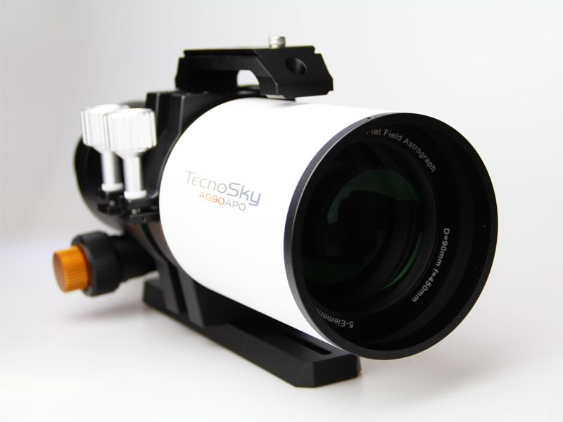 astrografo tecnosky APO a 5 elementi da 90mm di diametro e 450mm di focale (F/5)