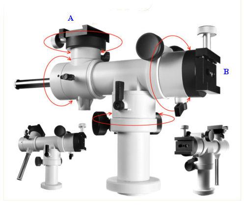 Montatura altazimutale micrometrica T-Sky con treppiede