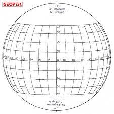 I dischi di Stonyhurst permettono di determinare le posizioni dei fenomeni sulla superficie solare.