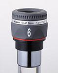 """Oculare Vixen - barilotto 1.25"""" - 50° campo apparente - lunghezza focale 6mm"""