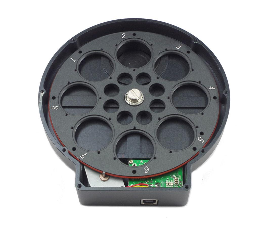 "ZWO Motorised Filter Wheel for 8x 1.25"" or 8x 31 mm filters[EN]"