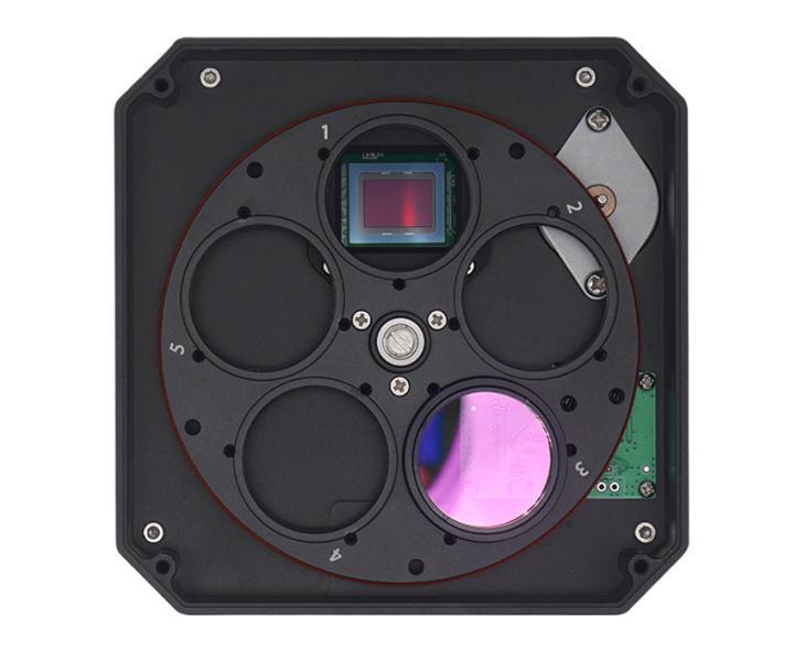 ZWO ASI 1600 GT CDD Monocromatico con ruota porta filtri integrata 5 posizioni da 31,8mm